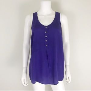 Anthropologie Odille 2 Purple Silk Racerback Tunic